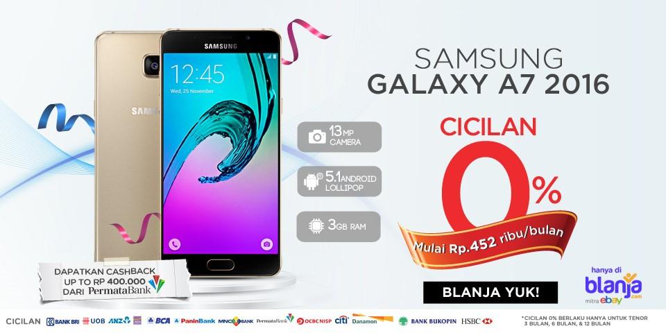 Promo Cicilan 0% Samsung Galaxy A7 di Blanja.com
