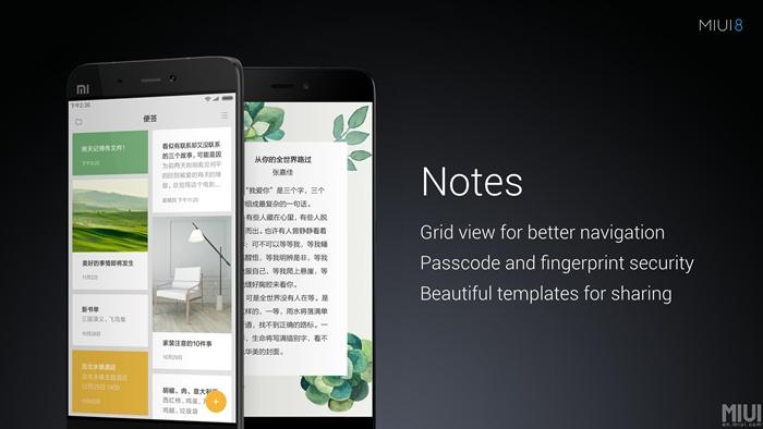 MIUI 8 - Notes App