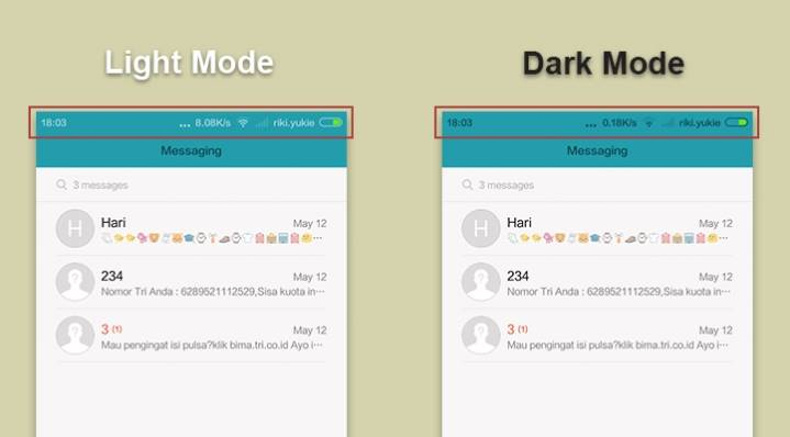 Merubah Icon Statusbar Otomatis ke Light Mode pada MIUI 6