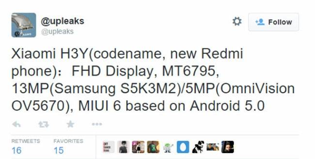 Upleaks_Xiaomi H3Y Leaks