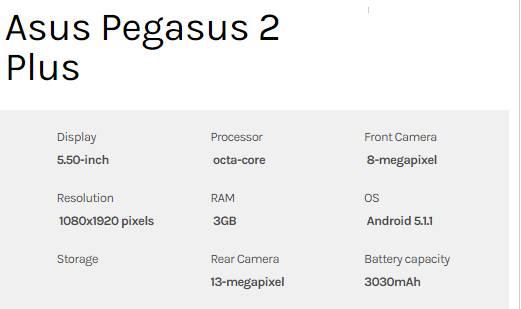 Spesifikasi ASUS Pegasus 2 Plus