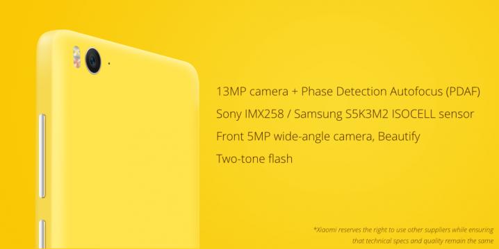 Camera_Xiaomi Mi 4c