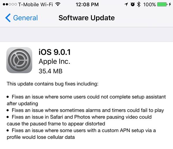 iOS 9.0.1 Updates_2