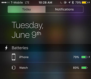 iOS 9_New Battery Widget