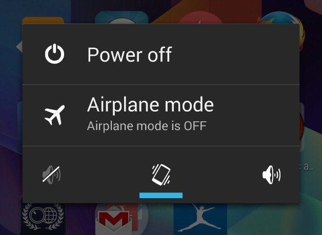 Aktifkan Airplane Mode