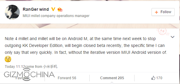 Manager Operasional MIUI menegaskan bahwa Android Marshmallow untuk Xiaomi akan dirilis, SEGERA !