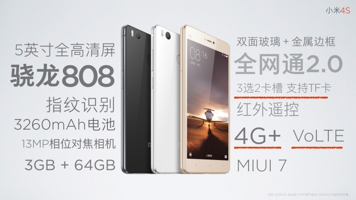 Spesifikasi_Xiaomi Mi 4s