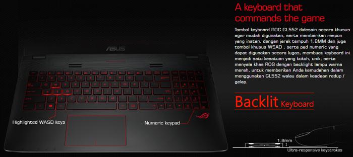 Keyboard_ASUS ROG GL552VX