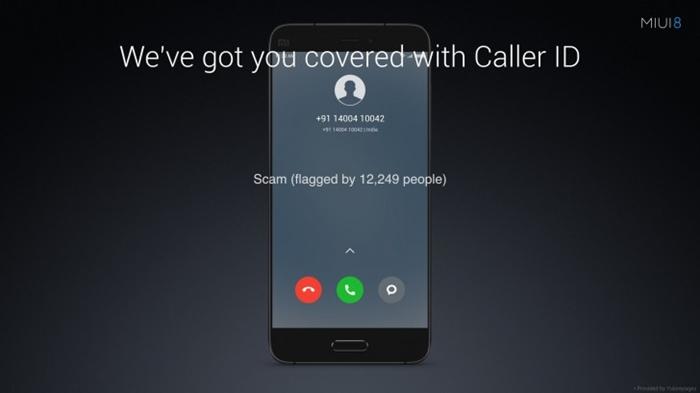 MIUI 8 - Caller ID