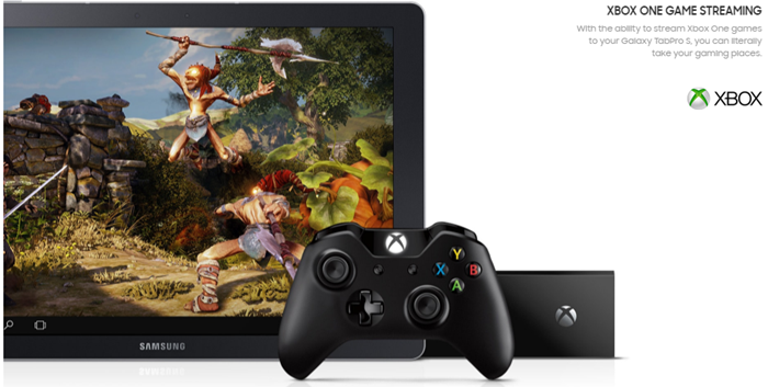 Samsung Galaxy TabPro S_XBOX One Game Streaming