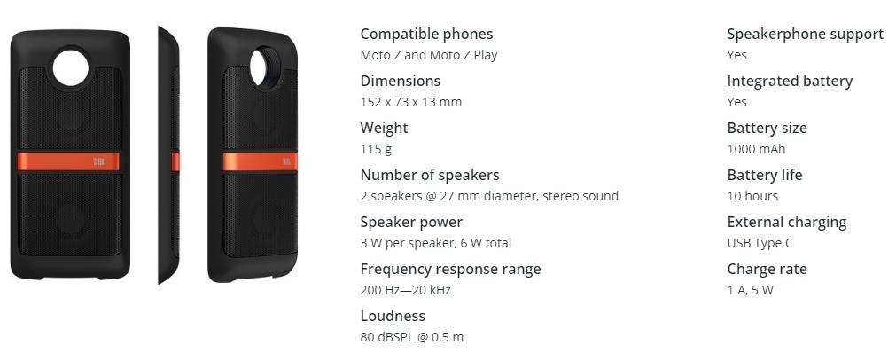 Spesifikasi JBL Soundboost Speaker